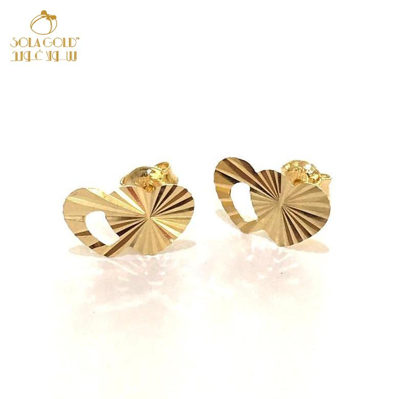 REAL GOLD STUD EARRING 18K
