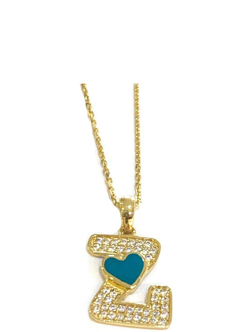 REAL GOLD LETTER Z NECKLACE 18K