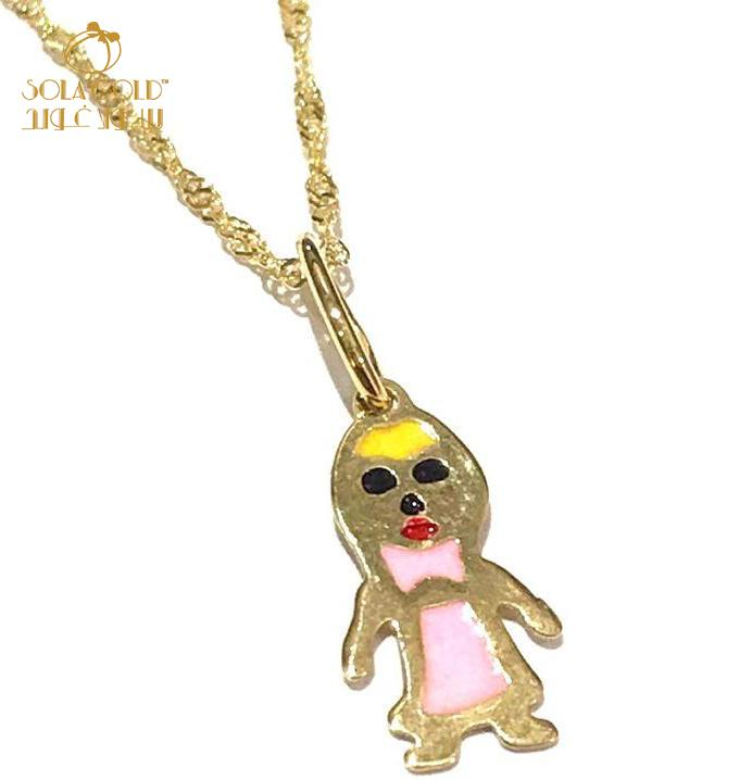 REAL GOLD BABY NECKLACE 18K