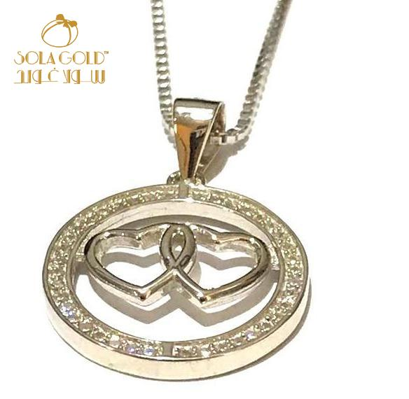 REAL SILVER HEART NECKLACE 925