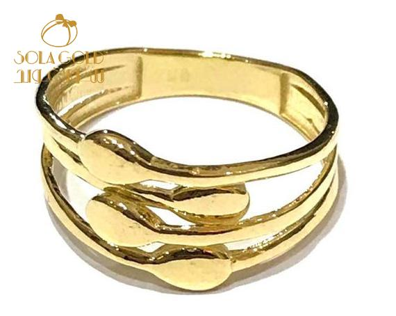 REAL GOLD RING 18K (SIZE: 7 )