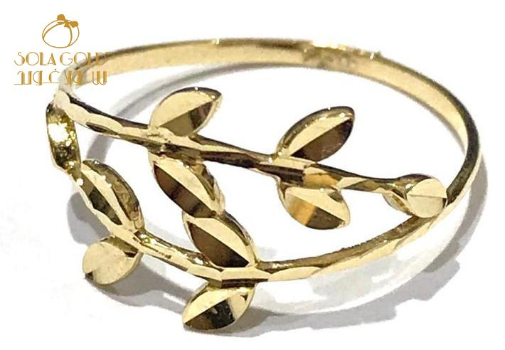 REAL GOLD RING 18K (SIZE: 6.6 )