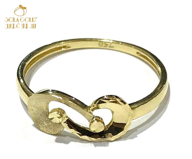 REAL GOLD RING 18K (SIZE: 7)