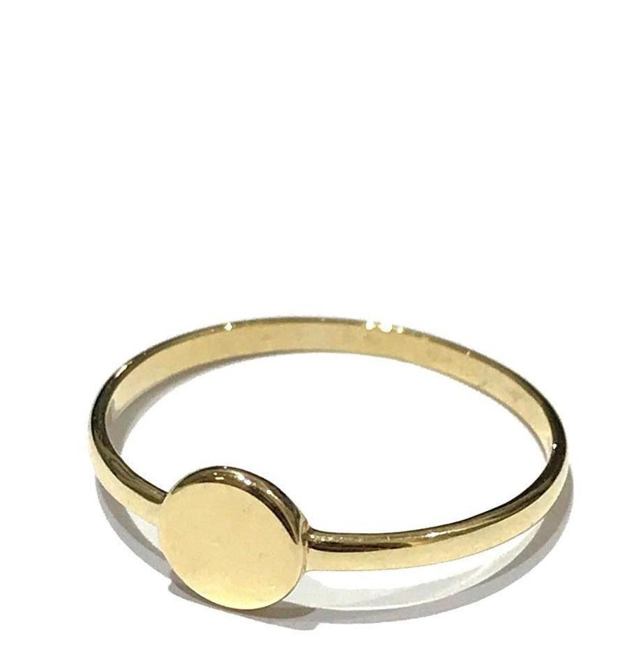 REAL GOLD RING 18K (SIZE: 6.5 )