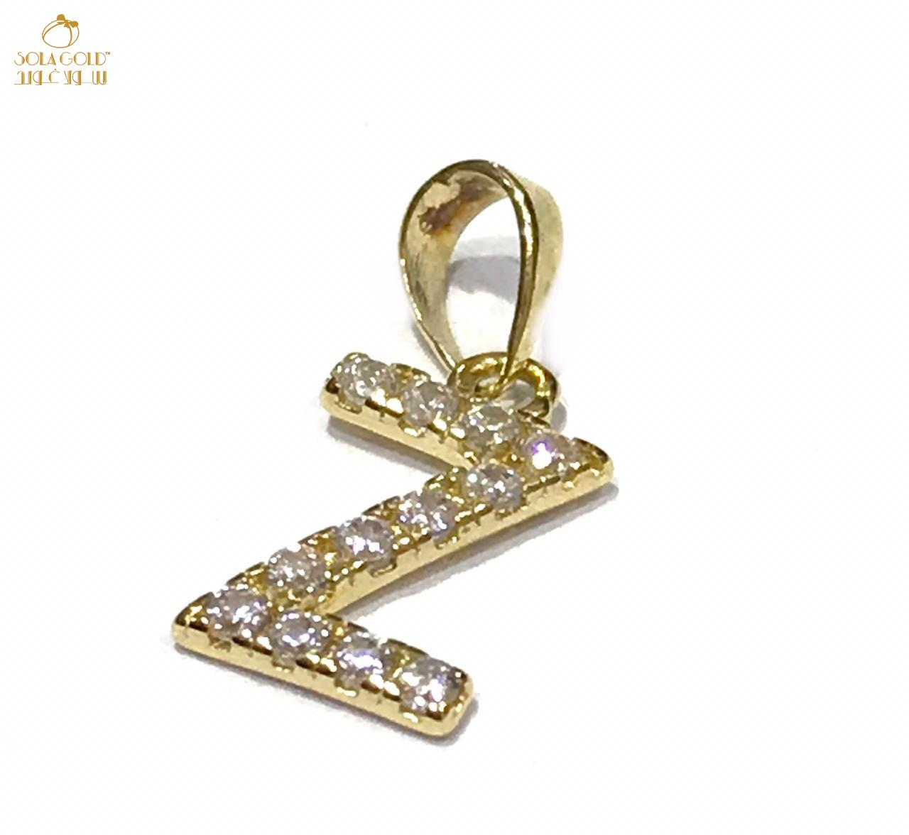 REAL GOLD MINI LETTER Z PENDANT 18K