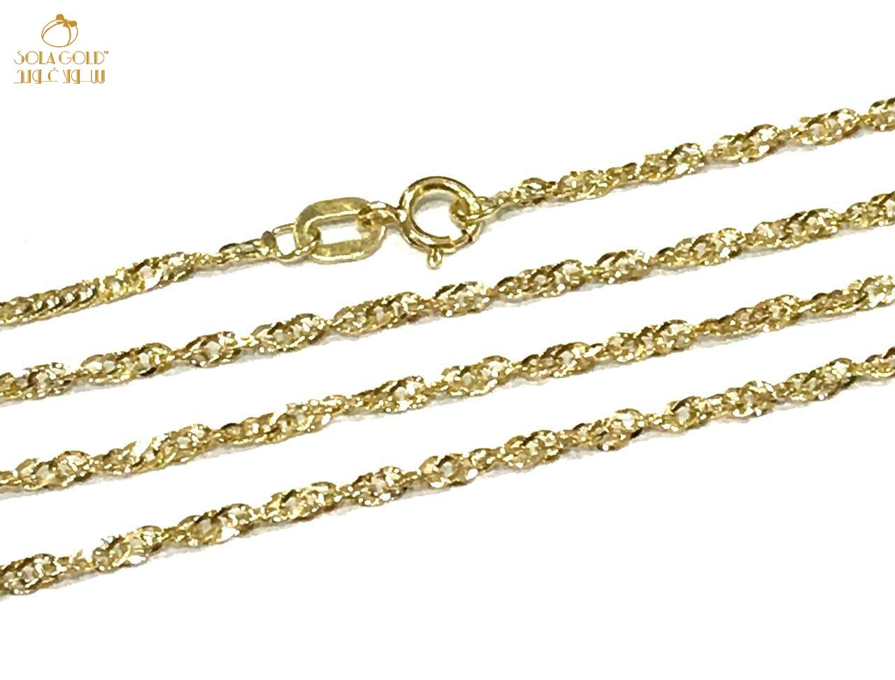 REAL GOLD CHAIN 18K