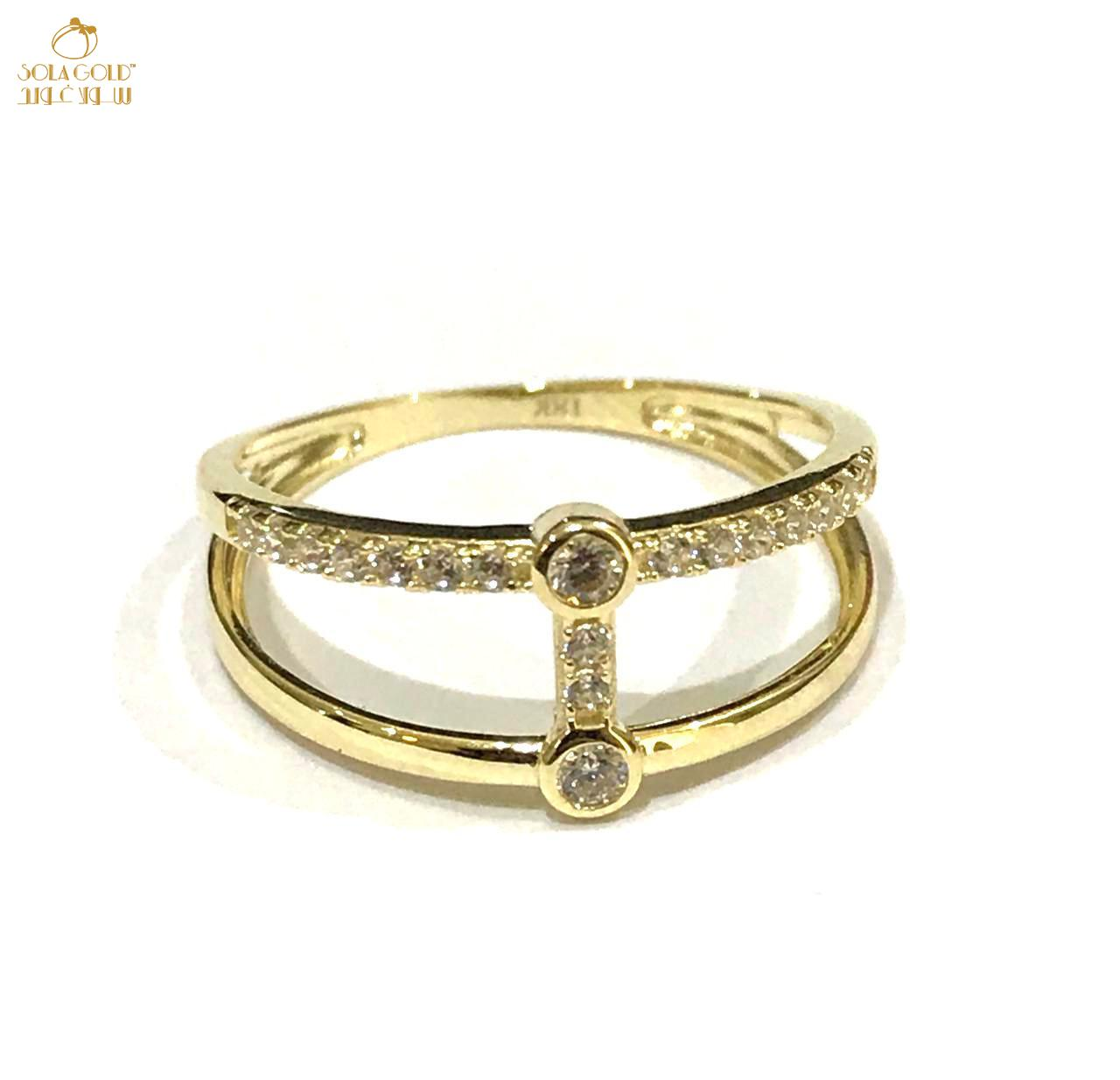 REAL GOLD RING 18K (SIZE:7.1)