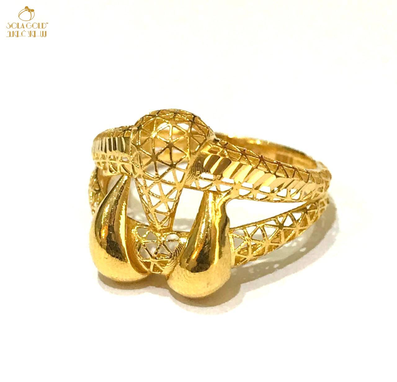 REAL GOLD RING 21K (SIZE: 8.2)