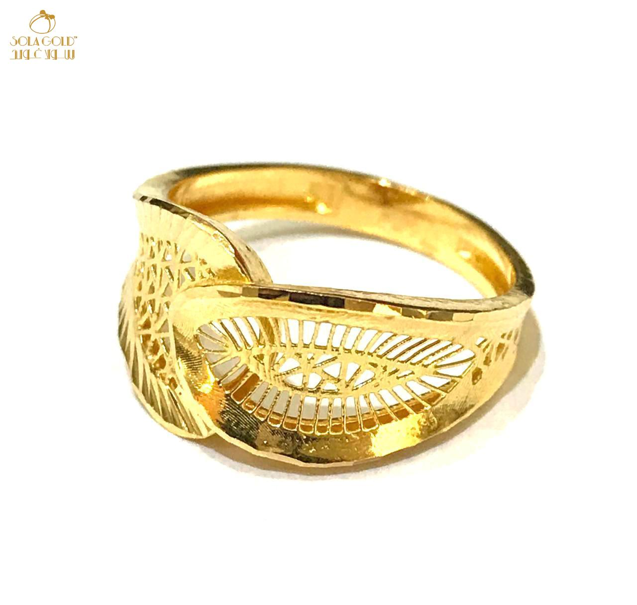 REAL GOLD RING 21K (SIZE:7.9)