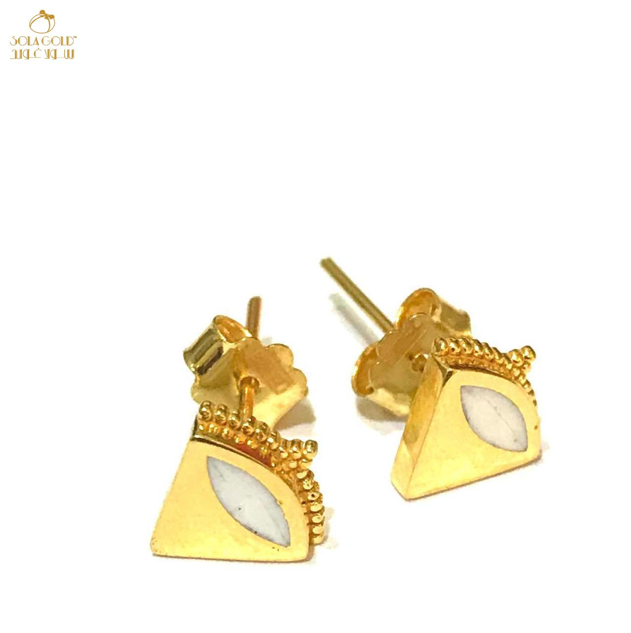 REAL GOLD STUD EARRING 21K